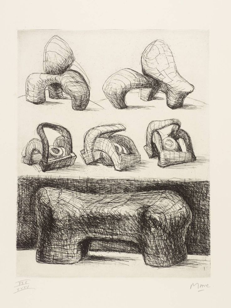 Henry Moore OM, CH, 'Projects for Hill Sculpture [from the book 'Henry Moore' by Ionel Jianou]' 1969