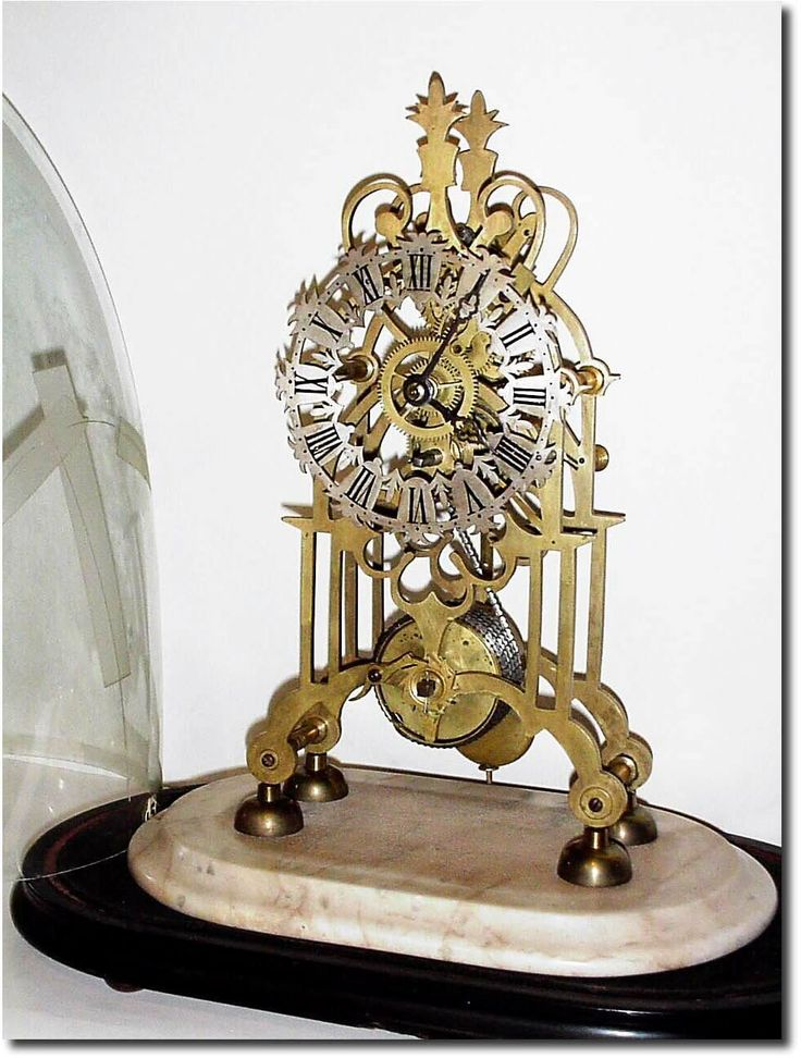 Antique English Shelf Skeleton Clock
