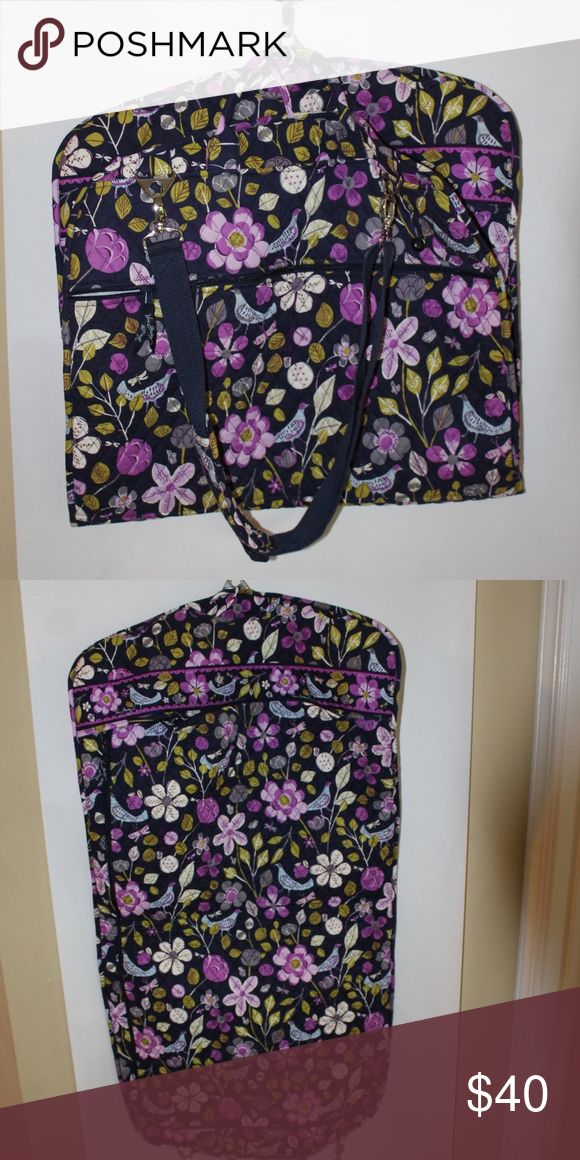 Vera Bradley Garment Bag Great pattern, tons of extra space for accessories and toiletries. Vera Bradley Bags Travel Bags
