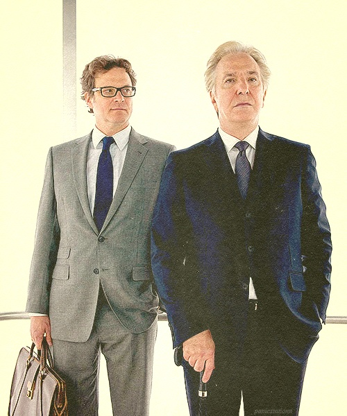 """Alan Rickman AND Colin Firth. - Promo pic for """"Gambit"""" 2012 sigh..."""