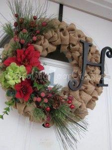 8 best como hacer una corona de navidad con flores de tela - Como hacer coronas de navidad ...