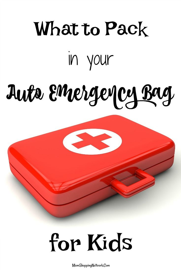 Do you know what you should pack in your auto emergency bag if you have kids