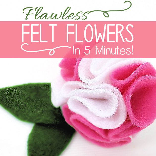 186 best diy faux flowers images on pinterest fabric flowers how to make felt flowers in 5 minutes faux flowerspaper mightylinksfo