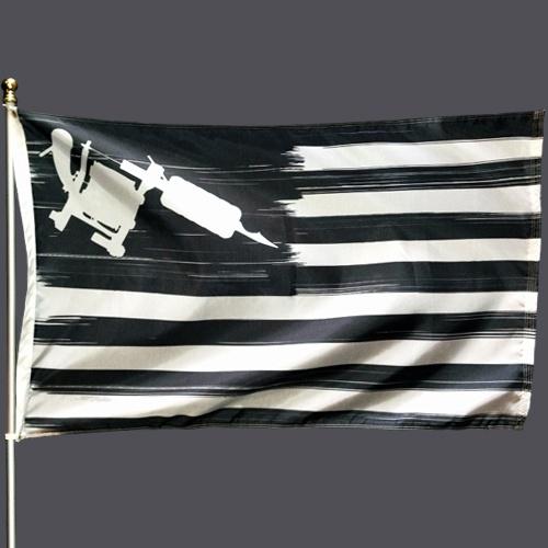 Steadfast Nation Tattoo Machine Flag