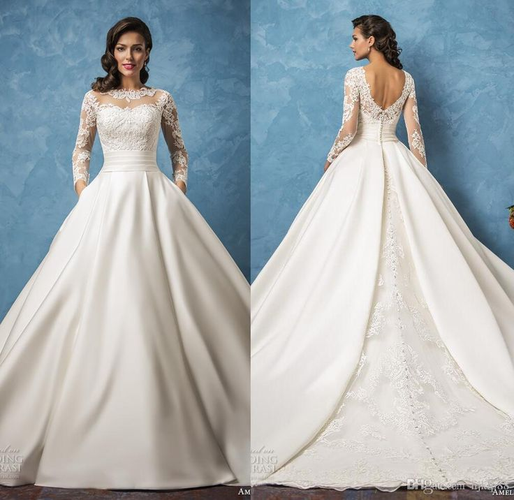 Pretty No Back Wedding Dress Pictures Inspiration - Wedding Dresses ...