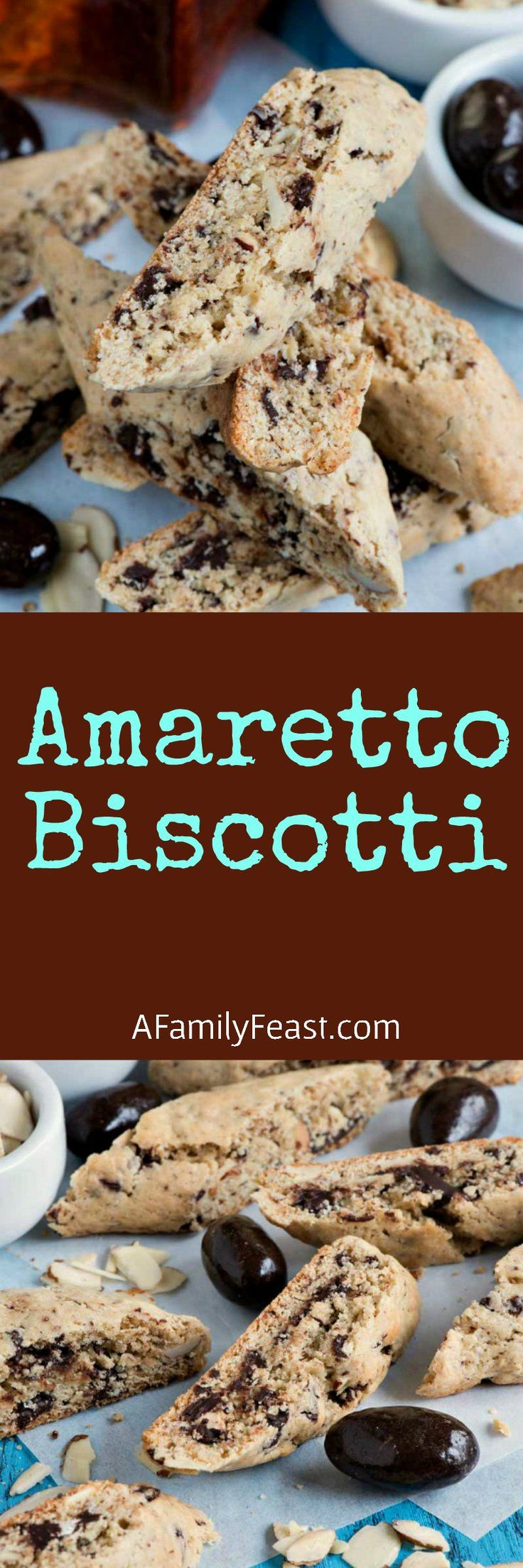Amaretto Biscotti - Quick and easy to make with a uniquely delicious flavor. So good!