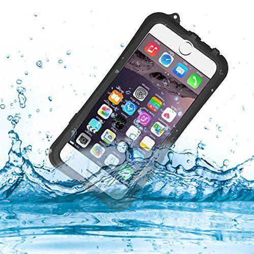 iphone 6S plus / iphone6 plus 防水 ケース カバー KuGi 防水規格IPX8取得 防水 防塵 耐衝撃 ケース ネックストラップ付 Apple iphone 6 plus / iphone6s plus 対応 完全防水ケース 水泳 潜水 温泉 お風呂 夏の海 プール スキー スノボ アウトドア等最適 写真撮影も可能 (5.5インチ ブラック)