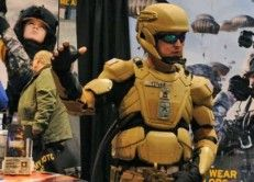 """The U.S. Military is making a real life """"Iron Man"""" and recently the companies tasked with producing them sat down and talked about some of the details!  The new suit would be given to special operations troops and would give them super-human strength, sensors that respond to specific brain functions and liquid armor.       http://americanmilitarynews.com/2014/04/u-s-military-making-real-life-iron-man-suit-awesome/"""