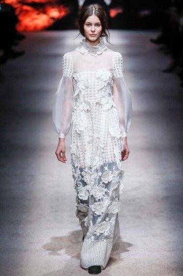 Long dress bianco Alberta Ferretti