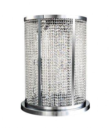 18 light clear crystal column-style table lamp