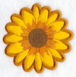 Sunflower (Applique): Embroidery Library, Quilt, Flowers Applique, Applies Designs, Inspiration Flowers Birds, Sconces, Applies Blocks, Machine Embroidery Designs
