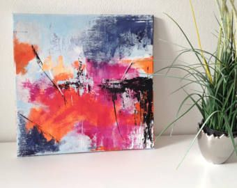 Abstrakte Malerei, Unikat, abstraktes Bild, Acrylbild, abstrakte Kunst, abstract art, abstract painting, wall art, small painting