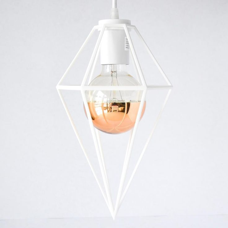Mini Diamond Pendant Light designed by modern lighting studio DeVignCo.