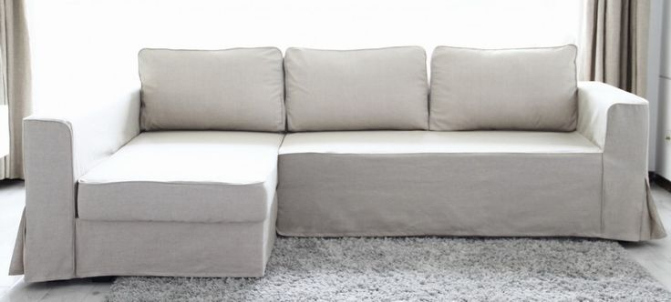 loose fit linen slipcover for our Ikea Manstad sectional