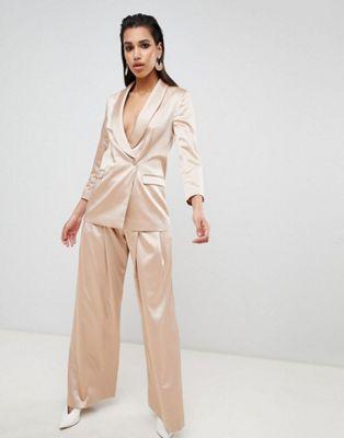 4143d62309f ASOS DESIGN Tailored Occasion Satin Suit
