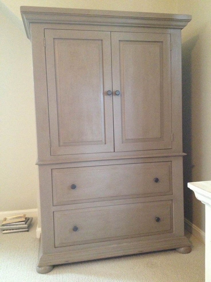 Armoire I painted with Annie Sloan chalk paint in coco.  Finished with clear and dark waxes.  Love this paint!