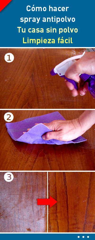 Como hacer spray antipolvo. Tu casa sin polvo. Limpieza fácil #limpiador #spray #muebles #polvo #antipolvo #DIY