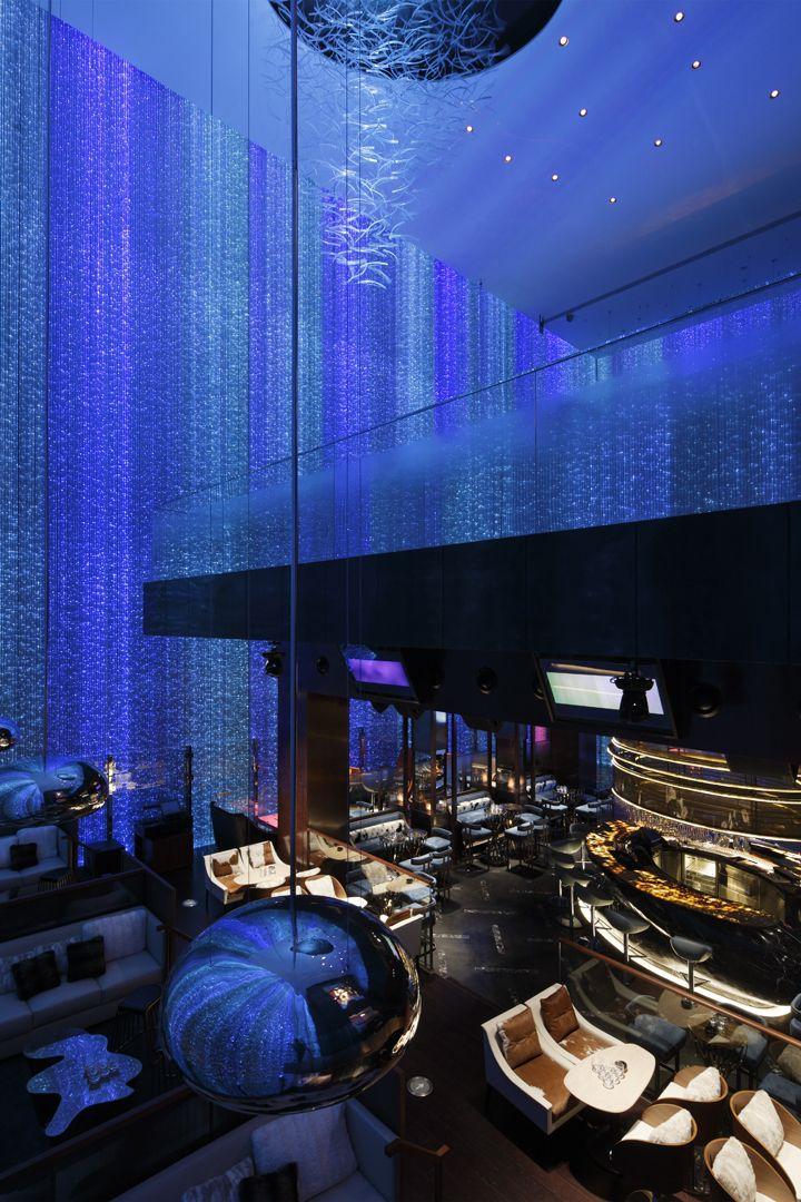 Fei Ultra lounge bar by A.N.D., Guangzhou China restaurant light installation