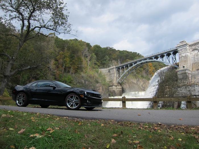 My Camaro at the Croton Falls, Westchester, NY