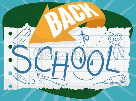 Drawings in Doodle Style in Paper for Back to School