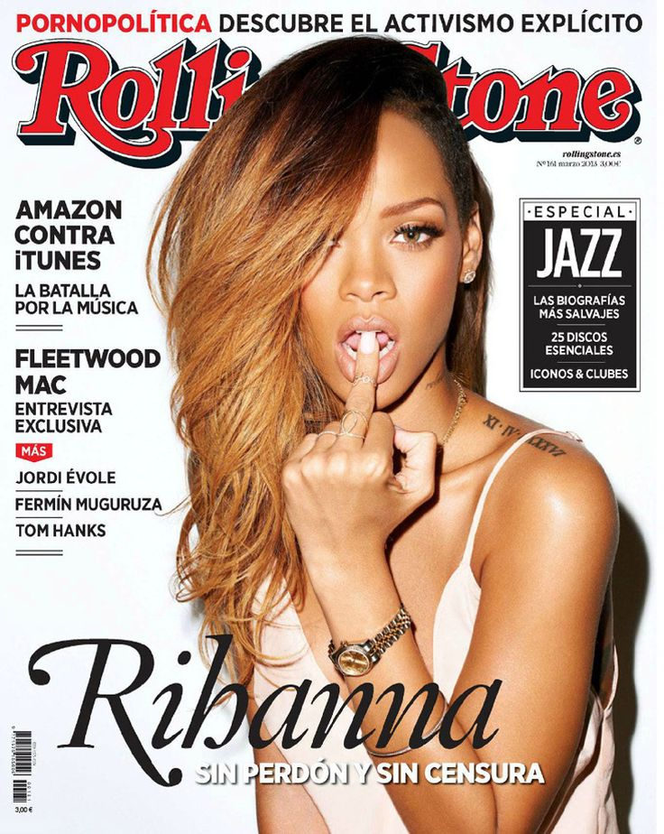 Rihanna en couverture du magazine Rolling Stone - by Terry Richardson - Mars 2013 / / #cover #terryrichardson #rollingstone #model #photoshoot #girls #sexy #portada #hot #femme #woman