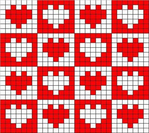 filet crochet heart pattern free - Google Search#
