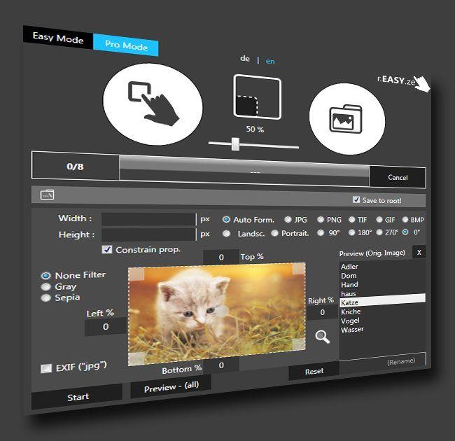 برنامج تغيير حجم مجموعة صور مرة واحدة Reasyze لحن الحياه Photoshop Actions Haus Software
