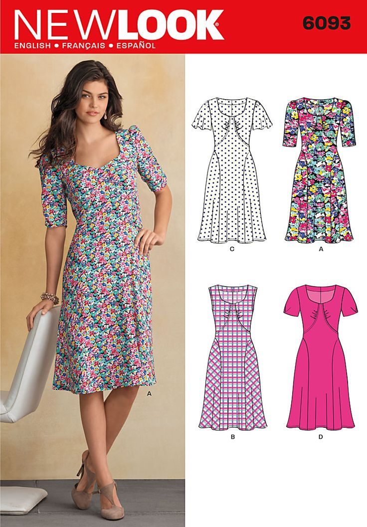 new look 6093   New Look 6093 dress retro 30s look and altho the local sprawl mart carries them for 2.99 they only carry a small handfull