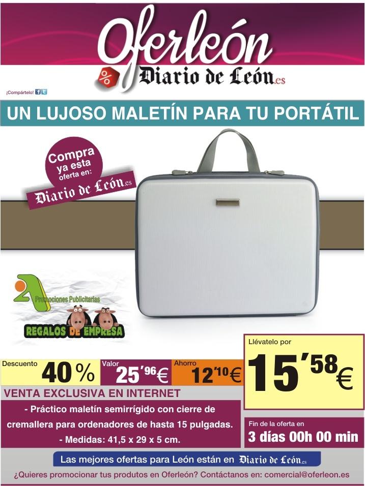 Segunda presencia de 2A en el Diario de León a través de una promoción de un Maletín rígido para ordenadores portátiles.
