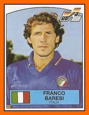 Franco Baresi of Italy. 1988 European Championship card.