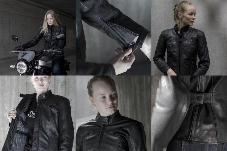 O casaco SPIDI Mystic tem um desenho cuidado para a mulher que anda de mota, fabricado em pele de cabra com soluções modernas para aumento do conforto e segurança.  #Spidi #Mystic