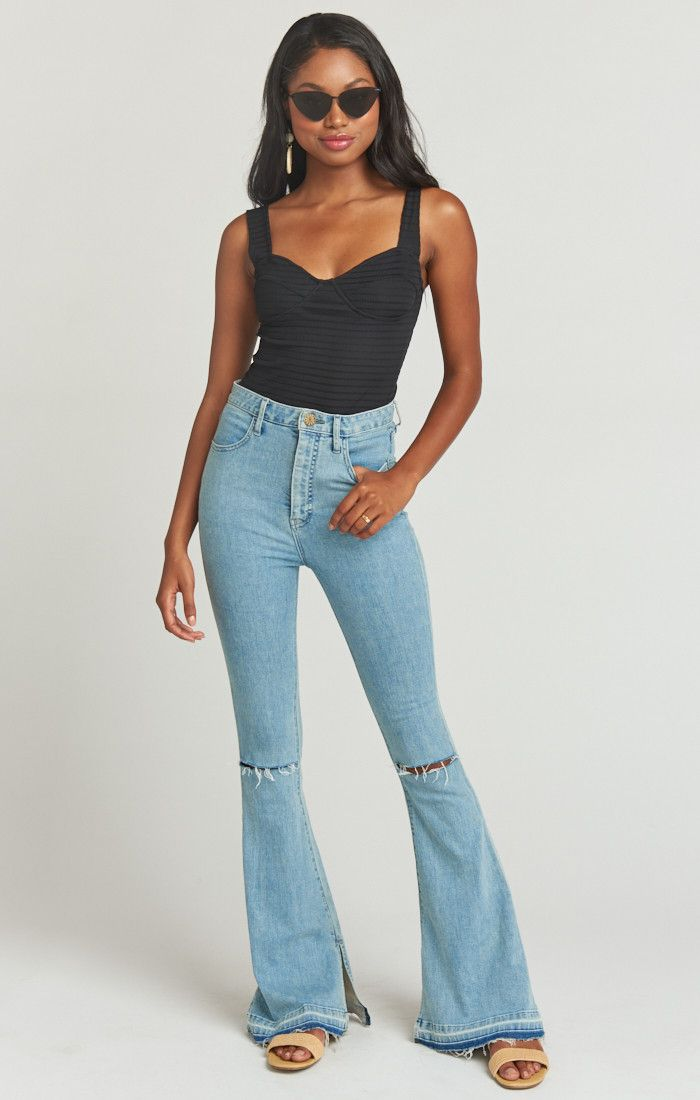 b70f120e34d1f1 Austin High Waist Flare ~ Dive in 2019 | My Style 2019 | Light jeans  outfit, Flare jeans, Jeans