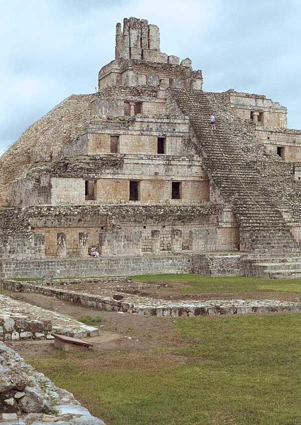 Edzna: Temple of Five Stories. Mayan temple in the Yucatan region of Mexico. 600-900 CE