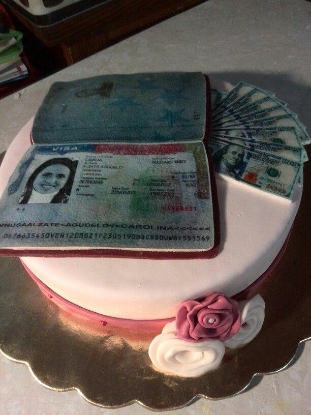 Torta con visa americana con dolares