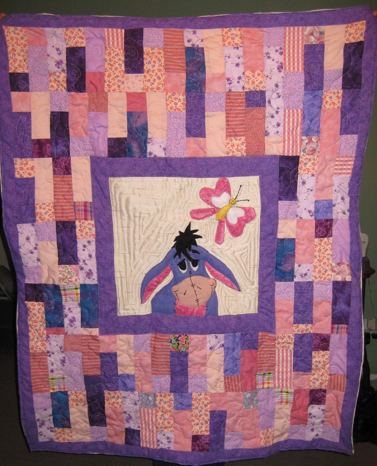 I Made This Eeyore Quilt Eeyore Is Made Out Of Fleece So