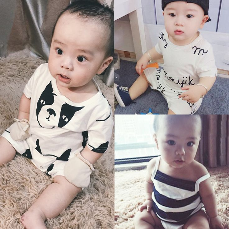 Newborn Baby Rompers Comfy Tiny Cotton Overall Summer Playsuit Baby Boys Outfit Clothing Infant Jumpsuits For Girls Cute Clothes #Affiliate