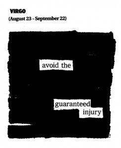 Newspaper Blackout Horoscopes for September 2012 by Austin Kleon