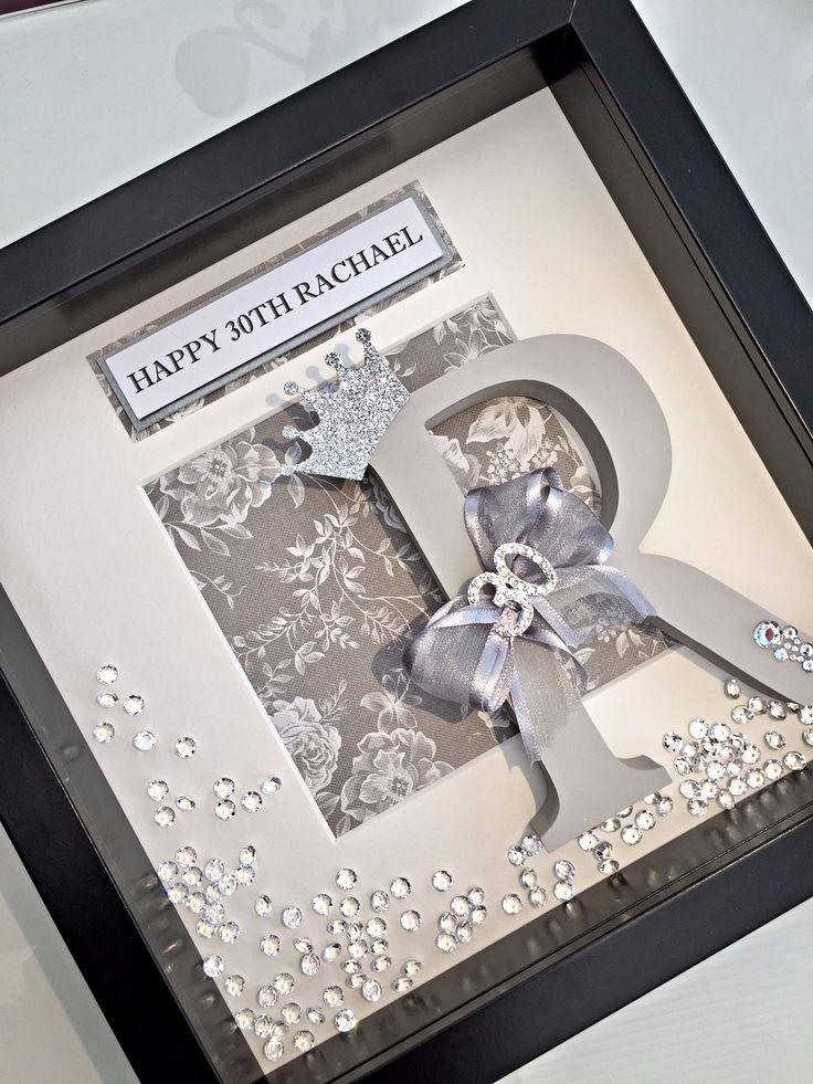 30th Birthday Initial Box Frame
