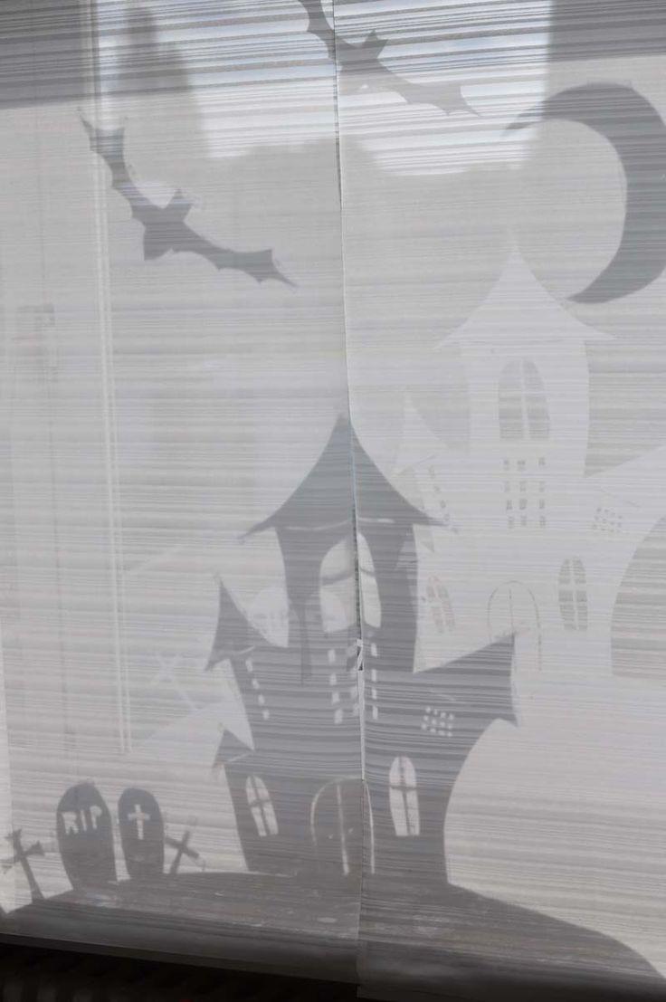 Halloween Fenster Silhouetten