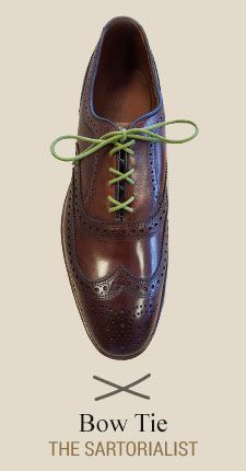 Bow Tie  Learn How to Lace Your Dress Shoes with ALLEN EDMONDS  AD -   An illustrated how-to guide to our favorite lace upsTrendy, stylish, sophisticated or cool, there's more than one way to lace a shoe. Find a pattern that fits your personality
