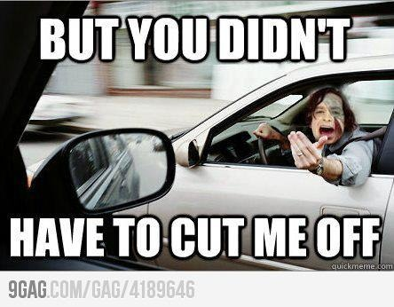 Gotye in traffic.The minute I repin this I'm listening to this song on the radio.