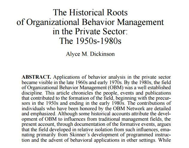 historical background of organisational behaviour Keywords: history, organizational psychology, industrial psychology, work  psychology,  psychologists in the us were asked to influence consumer  behavior  an important development of these ideas was the theory and practice  of group.