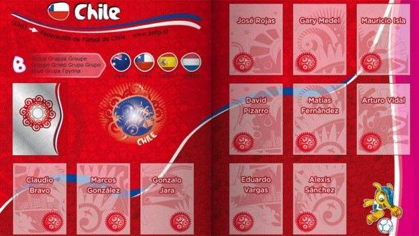 Pagina da Seleção Chilena.