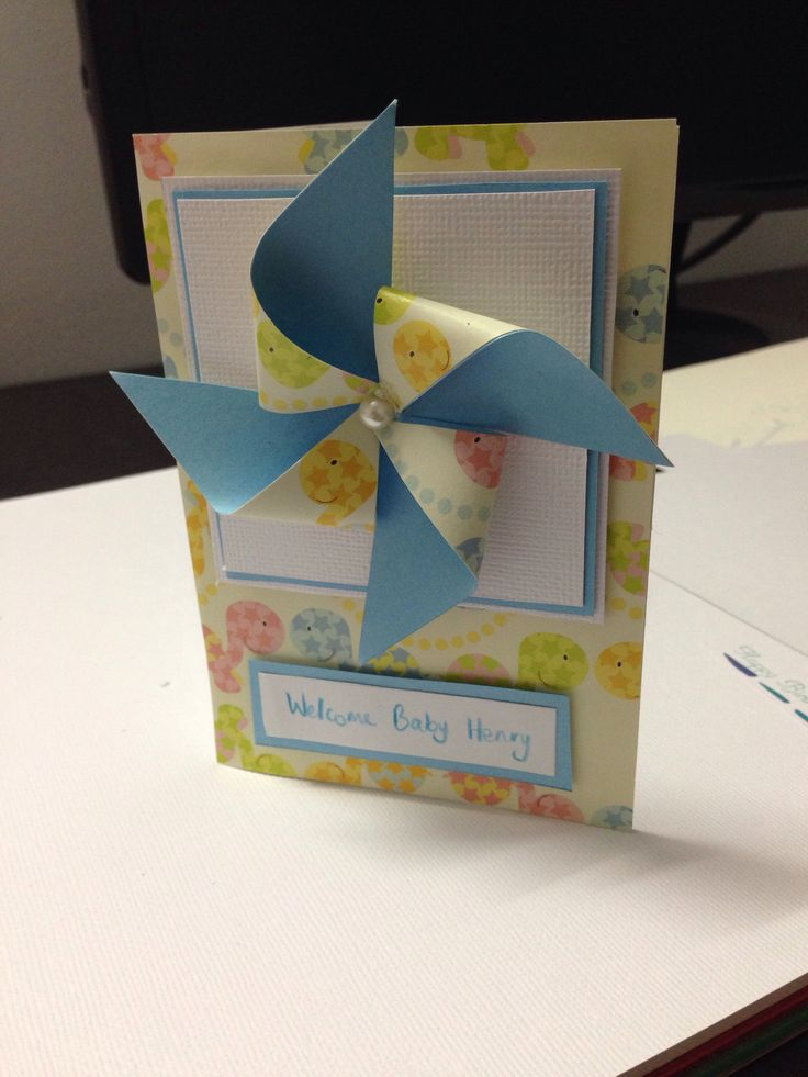 Welcoming card for baby boy