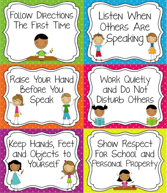 Classroom Rules that are tangible and easy for younger students to understand.