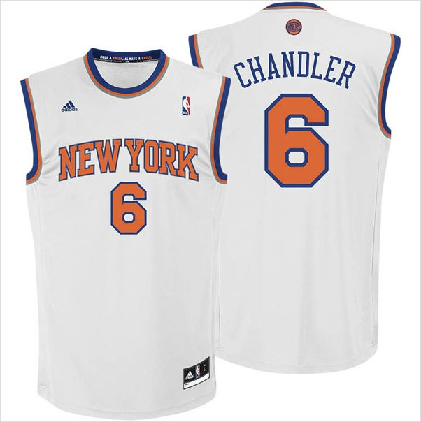 ... Mens New York Knicks Tyson Chandler 6 White Authentic NBA Jersey on  eBid United States ... 683abe1d2