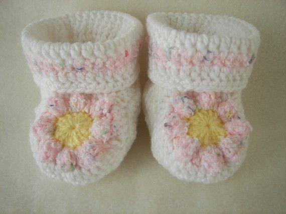 Margherita rosa Baby babbucce neonato a 6 di pitterpatterbabygift