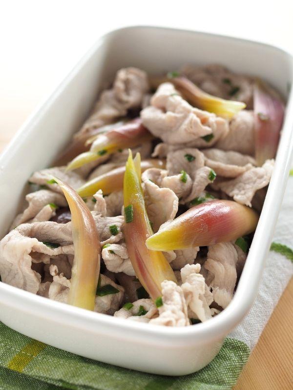 豚と茗荷の白だし浸し 茹でて浸すだけでこんなに美味しい! by 玉田 ...