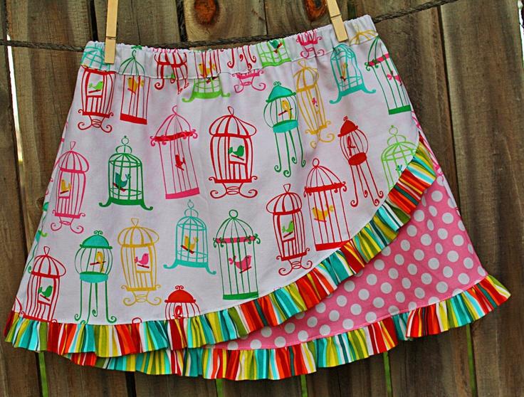 Euro Ruffle Skirt Pattern Girls Sewing Pattern Ruffled