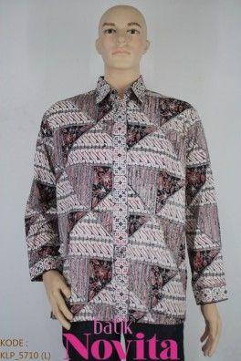 Bahan katun halus / prima. Batik kombinasi tulis tangan. Size : L. Lingkar dada: 110 cm. Panjang baju : 76 cm. Panjang lengan : 58 cm